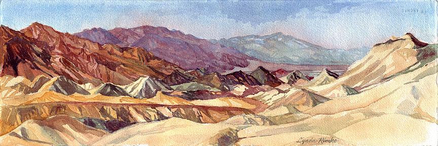 death valley watecolor landscape