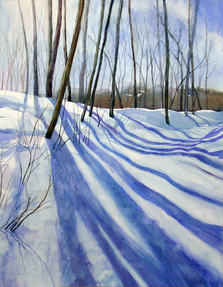 lynda rimke winter shadows watercolor