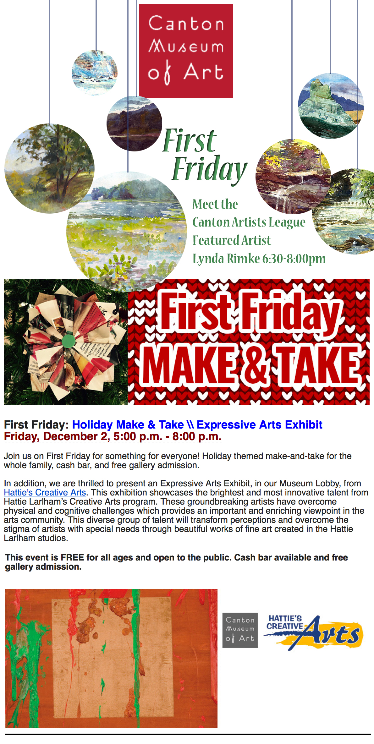 First Friday at CMA /Meet the Artist